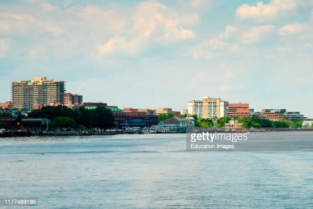 Alexandria, Virginia, waterfront skyline.