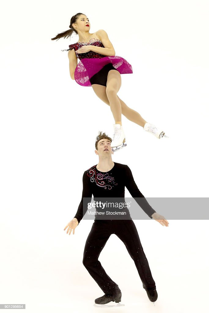 Alexandria Yao and Jacob Simon compete in the Pairs Short Program during the 2018 Prudential U.S. Figure Skating Championships at the SAP Center on January 4, 2018 in San Jose, California.