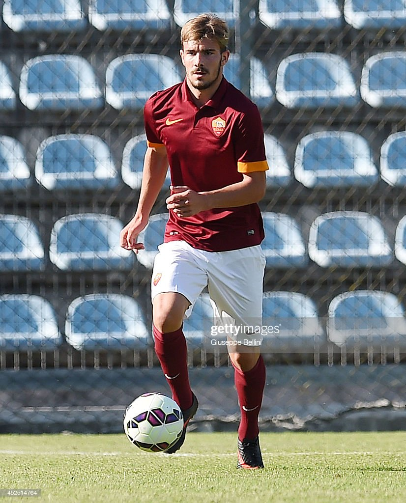 Alexandro Balasa of Roma in action during the friendly match between AS Roma and Indonesia U23 at Stadio Centro d'Italia - Manlio Scopigno on July 18, 2014 in Rieti, Italy.