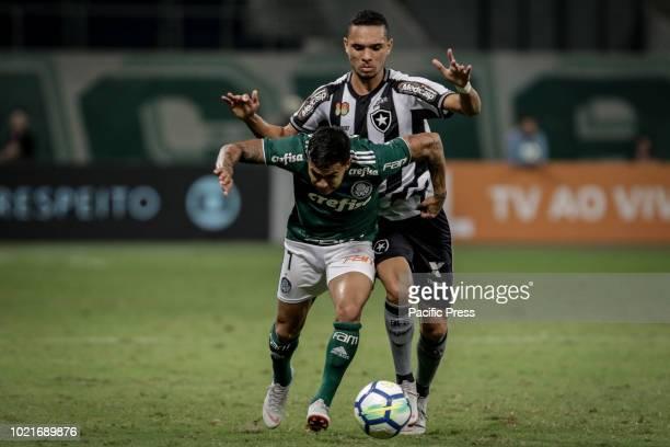 Alexandro Dudu Silva de Sousa and Matheus Fernandes during the game between Palmeiras and Botafogo valid game for the 2018 Brazilian championship in...