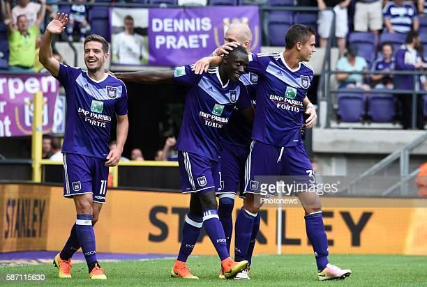 Alexandru Chipciu midfielder of RSC Anderlecht celebrates scoring a goal pictured during Jupiler Pro League second day competition match between RSC...
