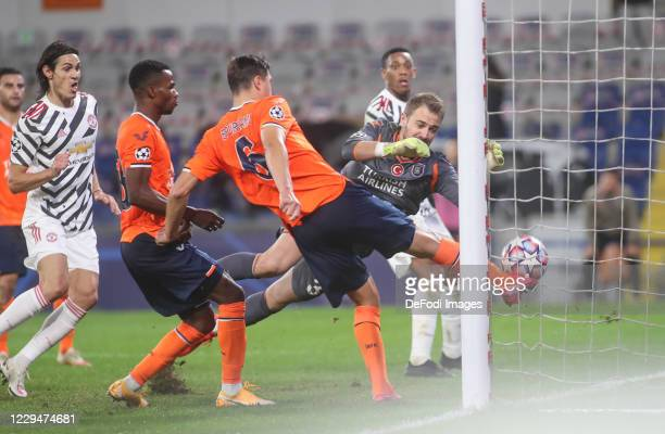 Alexandru Epureanu of Istanbul Basaksehir FK, Mert Gunok of Istanbul Basaksehir FK controls the ball during the UEFA Champions League Group H stage...