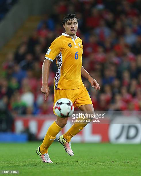 Alexandru Epureanu of Moldova during the 2018 FIFA World Cup Group D qualifying match between Wales and Moldova at Cardiff City Stadium on September...