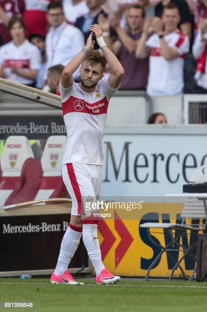 Alexandru Iulian Maxim of Stuttgart gestures during the Second Bundesliga match between VfB Stuttgart and FC Wuerzburger Kickers at MercedesBenz...