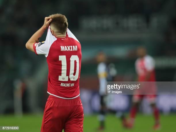 Alexandru Maxim of FSV Mainz 05 looks dejected during the Bundesliga match between Borussia Moenchengladbach and 1 FSV Mainz 05 at BorussiaPark on...