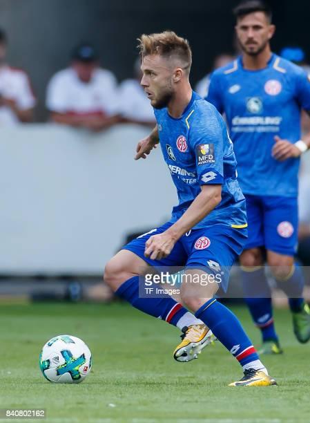 Alexandru Maxim of Mainz controls the ball during the Bundesliga match between VfB Stuttgart and 1FSV Mainz 05 at MercedesBenz Arena on August 26...
