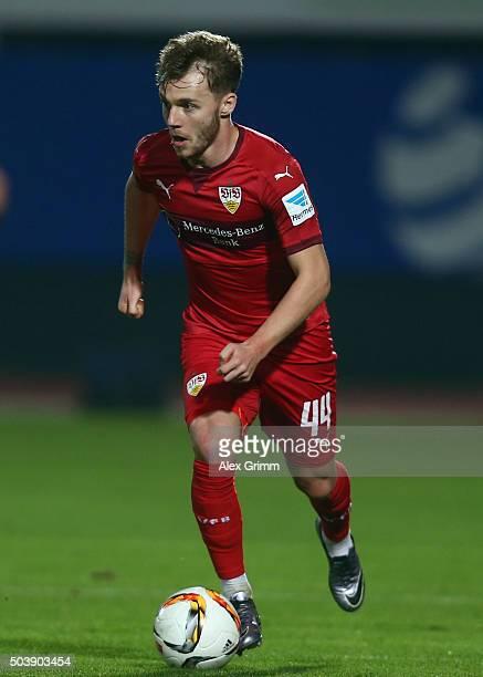 Alexandru Maxim of Stuttgart controles the ball during a friendly match between VfB Stuttgart and Antalyaspor at Akdeniz Universitesi on January 7...