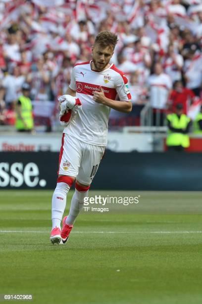 Alexandru Maxim of Stuttgart looks on during the Second Bundesliga match between VfB Stuttgart and FC Wuerzburger Kickers at MercedesBenz Arena on...