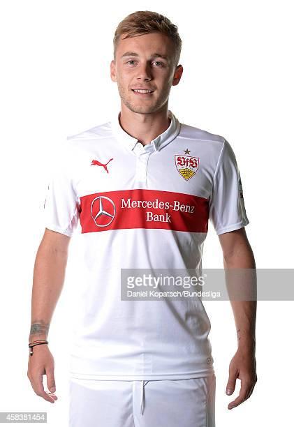 Alexandru Maxim poses during the VfB Stuttgart Media Day on July 24 2014 in Stuttgart Germany
