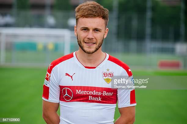 Alexandru Maxim poses during the VfB Stuttgart team presentation on July 13 2016 in Stuttgart Germany
