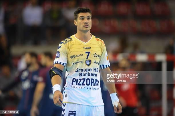 Alexandru Viorel Simicu of Saint Raphael during the semi final match of the Handball Champions Trophy between Paris Saint Germain and Saint Raphael...
