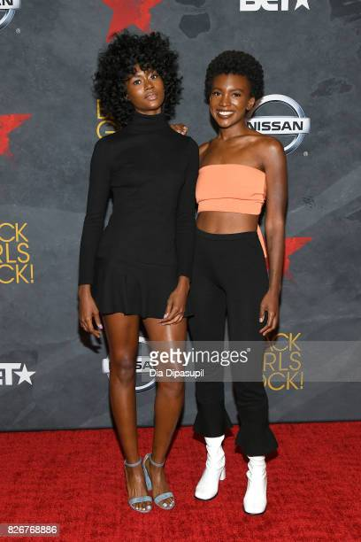 Alexe Belle and Isis Valentino of St Beauty attend Black Girls Rock 2017 at NJPAC on August 5 2017 in Newark New Jersey
