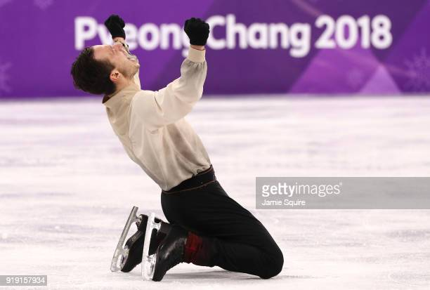 Alexei Bychenko of Israel competes during the Men's Single Free Program on day eight of the PyeongChang 2018 Winter Olympic Games at Gangneung Ice...
