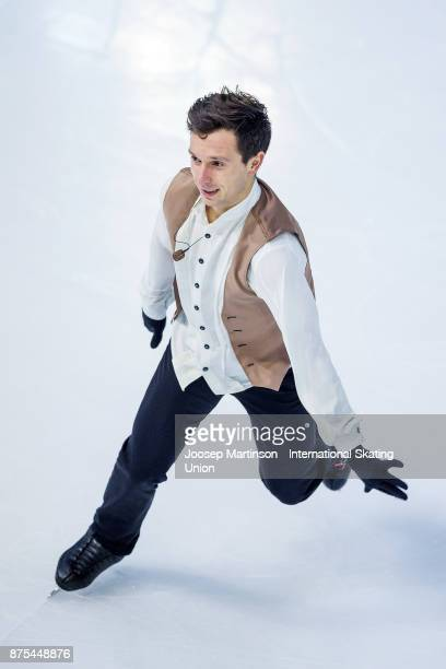 Alexei Bychenko of Israel competes in the Men's Short Program during day one of the ISU Grand Prix of Figure Skating at Polesud Ice Skating Rink on...