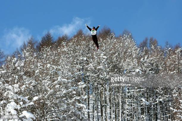 Alexei Grishin of Belarus competes during Aerials Men's Final of 2008 Freestyle FIS World Cup in Inawashiro at Listel Ski Fantasia on February 17,...