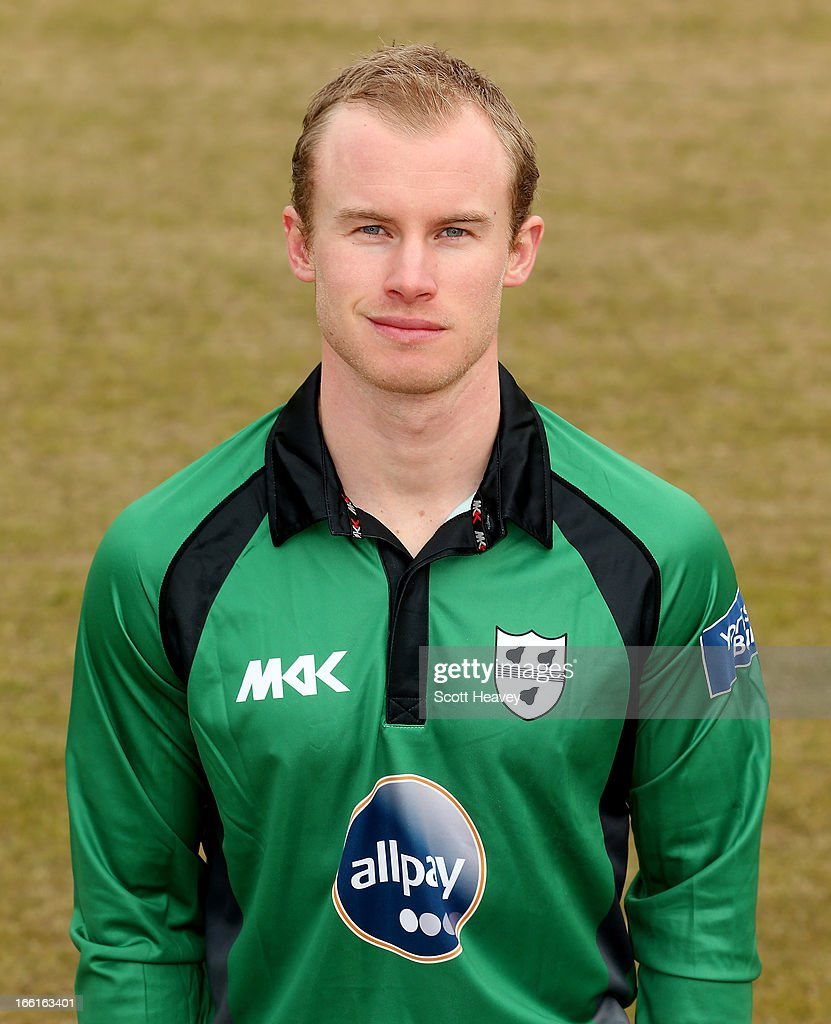 Alexei Kervezee during a Photocall for Worcestershire County Cricket Club on April 9, 2013 in Worcester, England.