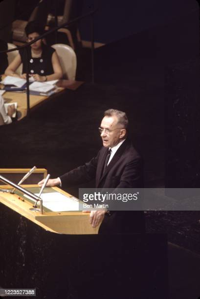 Alexei Kosygin addressing UN conference, June 19, 1967.