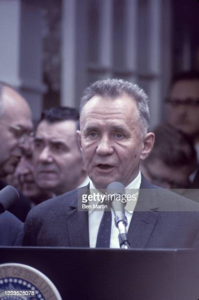 Alexei Kosygin speaking at the Glassboro, NJ Summit, June 23, 1967.