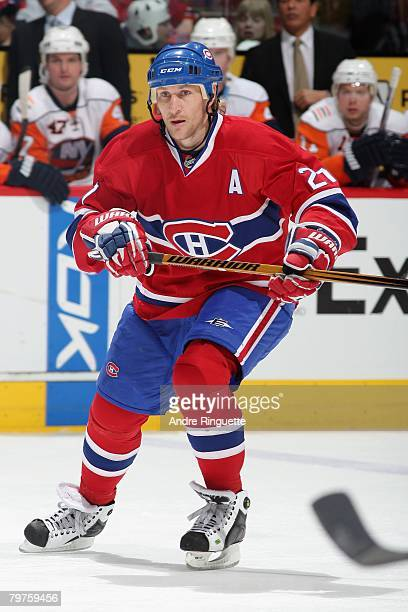 Alexei Kovalev of the Montreal Canadiens skates against the New York Islanders at the Bell Centre on February 2 2008 in Montreal Quebec