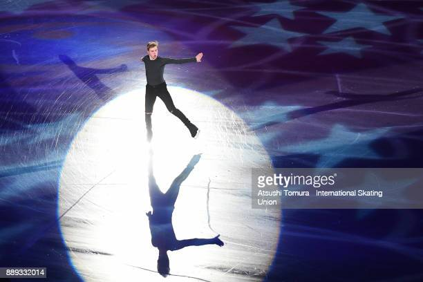 Alexei Krasnozhon of the USA performs his routine in the Gala exhibition during the ISU Junior Senior Grand Prix of Figure Skating Final at Nippon...