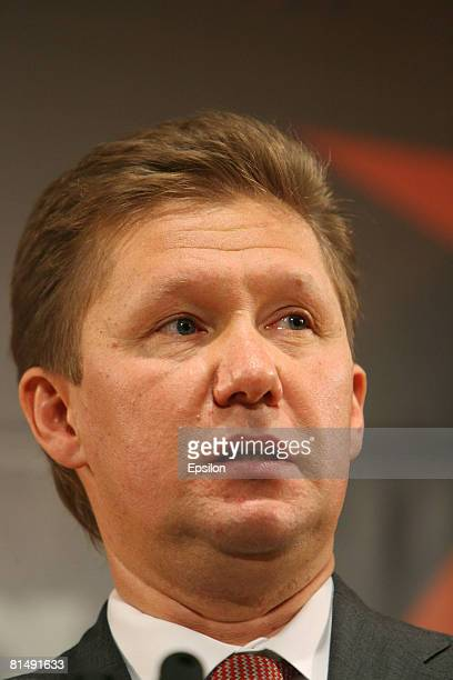 Alexei Miller, head of Gazprom, attends the 12th St. Petersburg International Economic Forum on June 7, 2008 in St. Petersburg, Russia. Newly...