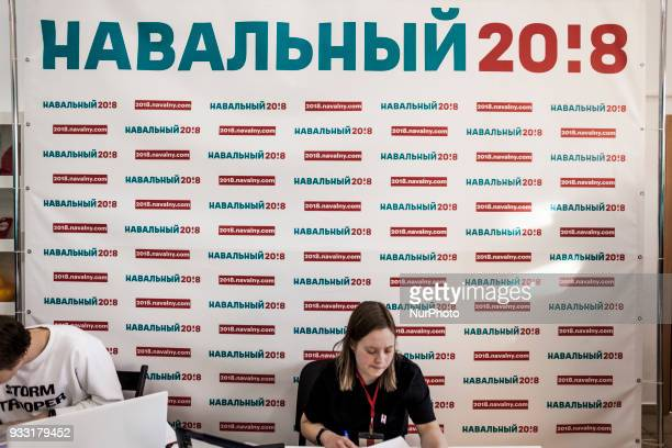 Alexei Navalny headquarters during the presidential campaign for russian presidential elections 2018 Alexei Navalny was banned of the elections by...