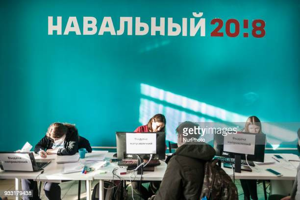 Alexei Navalny headquarters registers volunteer watchers for the russian elections voting 2018 Alexei Navalny was banned of the elections by the...