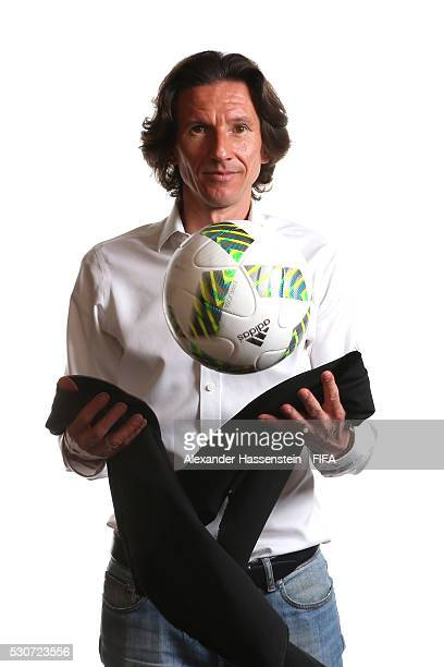 Alexei Smertin poses for a picture ahead of the 66th FIFA Congress at Presidente InterContinental Hotel Mexico City on May 11, 2016 in Mexico City.