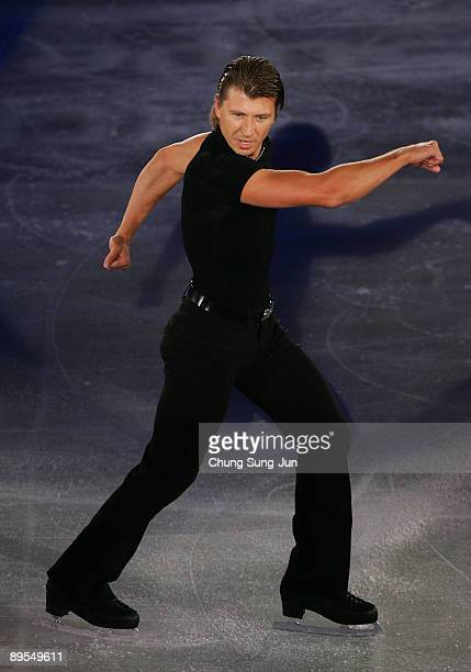 Alexei Yagudin of Russia performs during Super Class On Ice at Chamshil gymnasium on August 1 2009 in Seoul South Korea