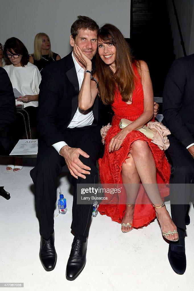 Alexei Yashin and Carol Alt attend the 2015 amfAR Inspiration Gala New York at Spring Studios on June 16, 2015 in New York City.