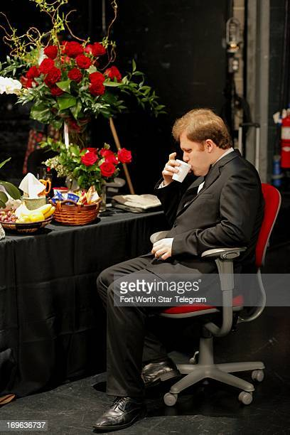 Alexey Chernov of Russia backstage during the sixth day of the preliminary round of the 14th Van Cliburn International Piano Competition in the Bass...