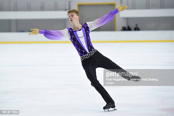 Alexey Erokhov of Russia competes in the men's free program during the ISU Junior Grand Prix of Figure Skating Yokohama on September 10 2016 in...