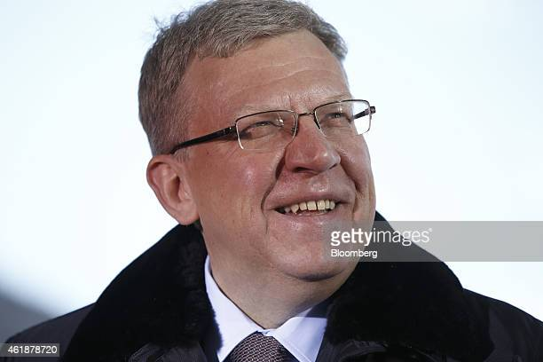 Alexey Kudrin Russia's former finance minister reacts during a during a Bloomberg Television interview on the opening day of the World Economic Forum...