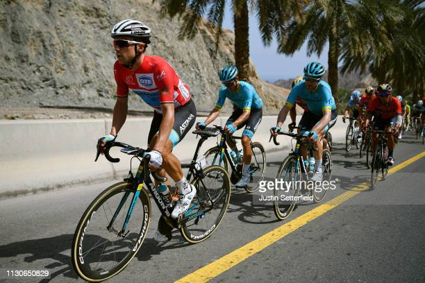 Alexey Lutsenko of Kazahkstan and Astana Pro Team Red Leader Jersey / during the 10th Tour of Oman 2019 Stage 4 a 131km stage from Yiti al Sifah to...