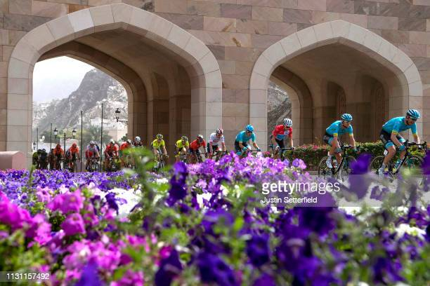 Alexey Lutsenko of Kazahkstan and Astana Pro Team Red Leader Jersey / Flowers / Landscape / during the 10th Tour of Oman 2019, Stage 6 a 135,5km...