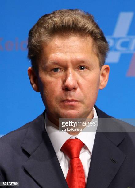 Alexey Miller President of Gazprom delivers a speech during the Japan Russia Business Forum at a hotel on May 12 2009 in Tokyo Japan Putin is on a...