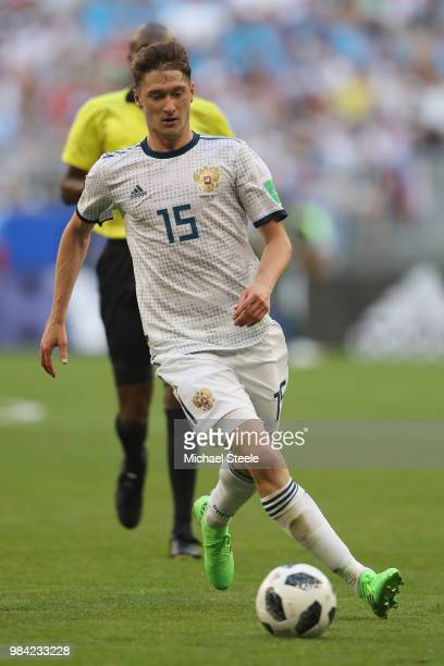 Alexey Miranchuk of Russia during the 2018 FIFA World Cup Russia group A match between Uruguay and Russia at Samara Arena on June 25 2018 in Samara...