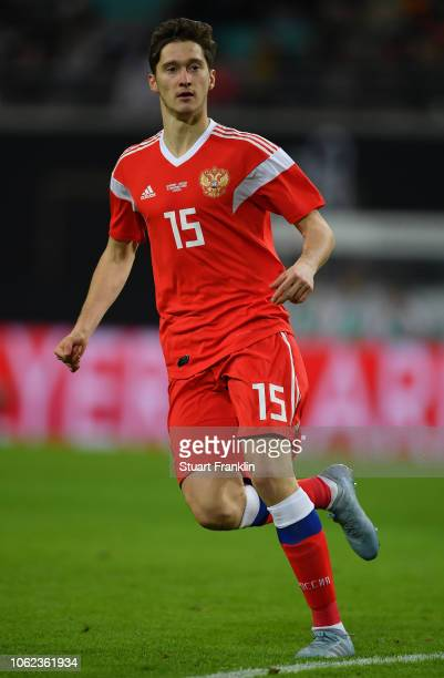 Alexey Miranchuk of Russia in action during an International Friendly match between Germany and Russia at Red Bull Arena on November 15, 2018 in...