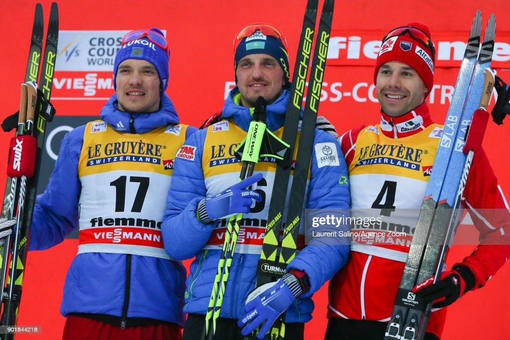 FIS Nordic World Cup  - Men's CC 15 km C Mass Start Tour de ski : News Photo