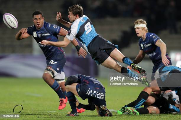 Alexey Shcherban of EinseiSTM in action during the European Challenge Cup match between Union Bordeaux Begles and EnseiSTM at stade Chaban Delmas on...