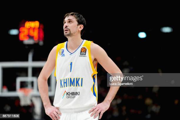 Alexey Shved #1 of Khimki Moscow Region during the 2017/2018 Turkish Airlines EuroLeague Regular Season Round 11 game between AX Armani Exchange...