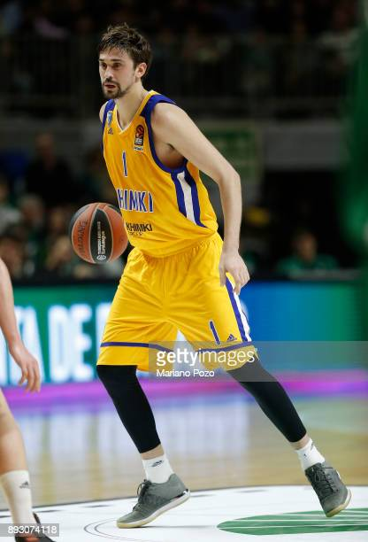 Alexey Shved #1 of Khimki Moscow Region in action during the 2017/2018 Turkish Airlines EuroLeague Regular Season game between Unicaja Malaga and...