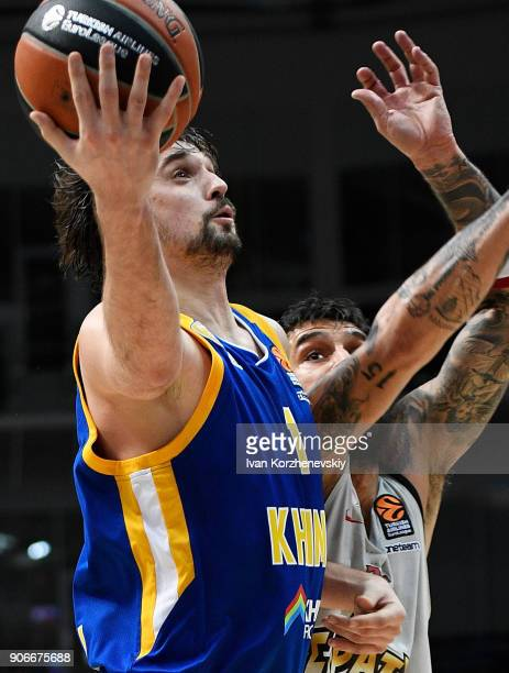 Alexey Shved #1 of Khimki Moscow Region in action during the 2017/2018 Turkish Airlines EuroLeague Regular Season Round 19 game between Khimki Moscow...