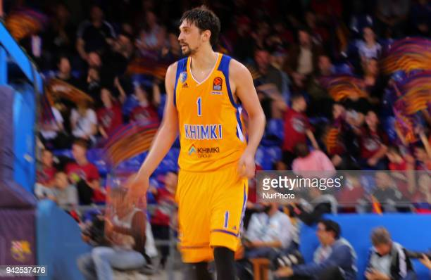 Alexey Shved during the match between FC Barcelona and BC Khimki Moscu corresponding to the week 30 of the Euroleague played at the Palau Blaugrana...