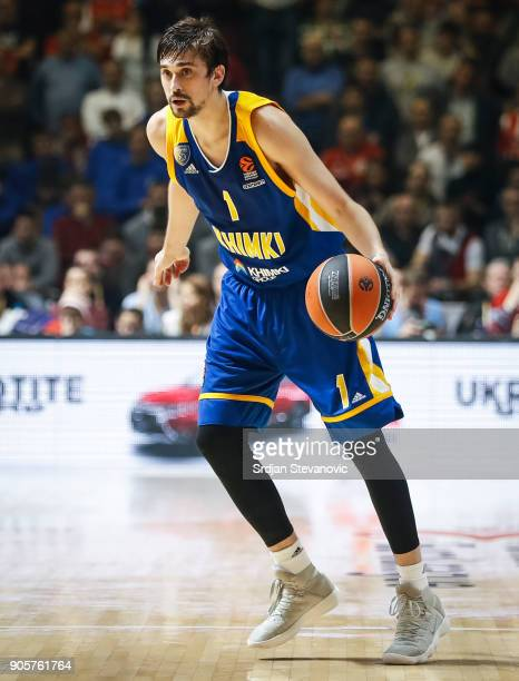 Alexey Shved of Khimki in action during the 2017/2018 Turkish Airlines EuroLeague Regular Season Round 18 game between Crvena Zvezda mts Belgrade and...