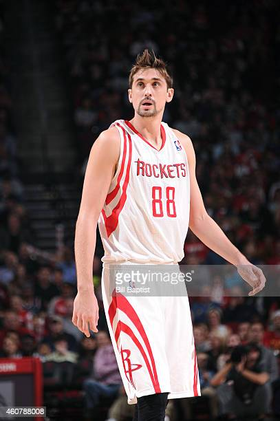Alexey Shved of the Houston Rockets during the game against the Portland Trail Blazers on December 22 2014 at Toyota Center in Houston Texas NOTE TO...