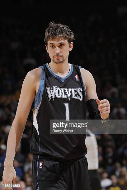 Alexey Shved of the Minnesota Timberwolves against the Golden State Warriors on April 9 2013 at Oracle Arena in Oakland California NOTE TO USER User...