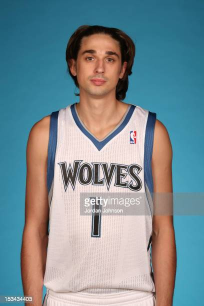 Alexey Shved of the Minnesota Timberwolves poses for a portrait during 2012 NBA Media Day on October 1 2012 at Target Center in Minneapolis Minnesota...