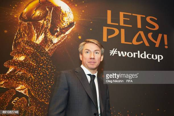 Alexey Sorokin CEO of Russia 2018 LOC attends the 2018 FIFA World Cup Russia official store opening ceremony on December 12 2017 in Moscow Russia