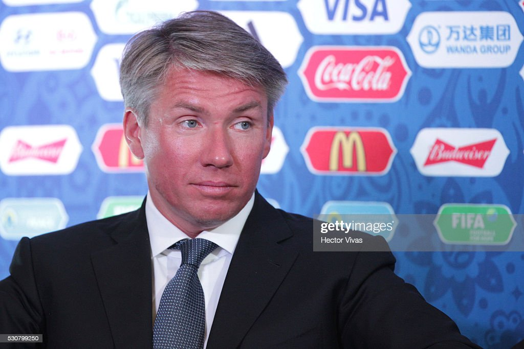 Alexey Sorokin executive director of the local organizing committee of the FIFA Confederations Cup Russia 2017 attends the FIFA Confederations Media Event at CAR on May 11, 2016 in Mexico City, Mexico.